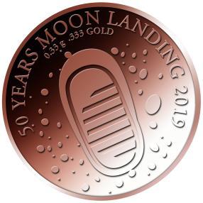 50 J. Mondlandung Rotgoldmünze
