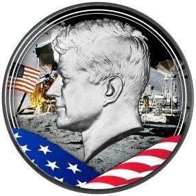 Silbermünze Kennedy 50 Jahre Mondlandung