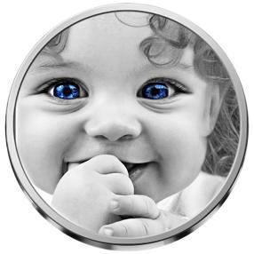 Real Eye Mensch Silbermünze