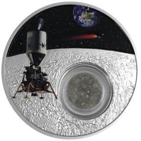 USA Silbermünze Mondlandung 1 Carat