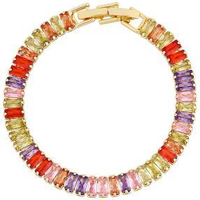 Armband mit Zirkonia multicolor