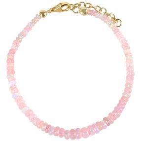 Armband Äthiopischer Opal, rosé