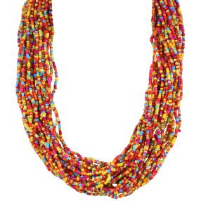 Collier Rocaille Multicolor groß