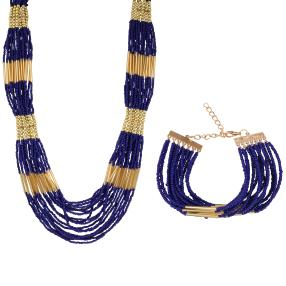Set Collier+Armband Rocaille Perlen