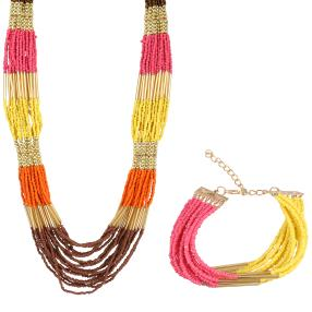Set Collier+Armband Indian Summer