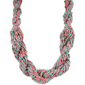 Collier Rocaille-Perlen gedreht