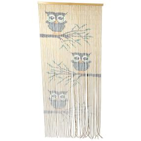 Bambusvorhang Eulen
