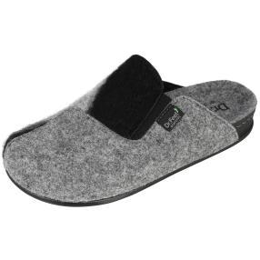 Dr. Feet Damen Hausschuhe, grau, schwarz
