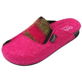Dr. Feet Damen-Hausschuhe, grün, pink, schwarz