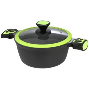 KING Click-Grip-Kochtopf ø 24 cm, schwarz, grün