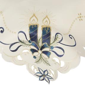 Mitteldecke Kerze blau, 85 x 85 cm