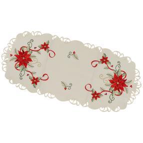 Tischläufer Weihnachtsstern, 38 x 90 cm