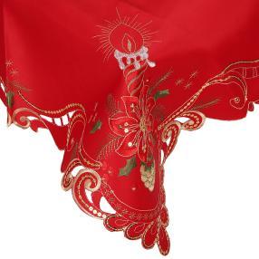 Mitteldecke Kerze rot, 85 x 85 cm