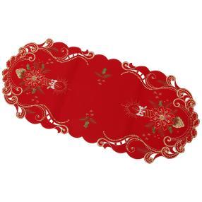 Tischläufer Kerze rot, 38 x 90 cm
