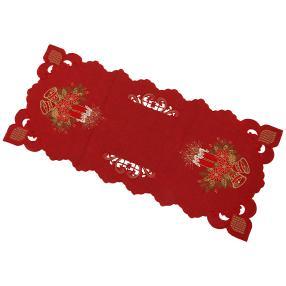 Tischläufer Glocke rot, 40 x 90 cm