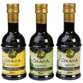 Aromatisiertes Olivenöl 3er-Set