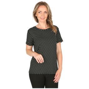 Damen-Shirt 'Fieste' schwarz/weiß