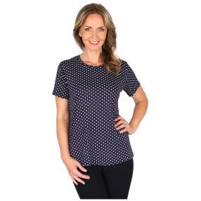 Damen-Shirt 'Fieste' blau/weiß