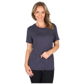 Damen-Shirt 'Ostuni' blau/weiß