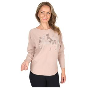 Damen-Pullover 'Kitty Cat' rosa