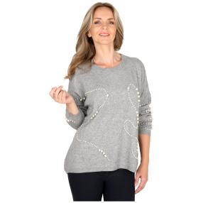 Damen-Pullover 'Perla' grau