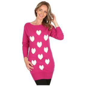 Damen-Pullover 'Cuori' pink