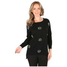 Damen-Pullover 'Diva' schwarz
