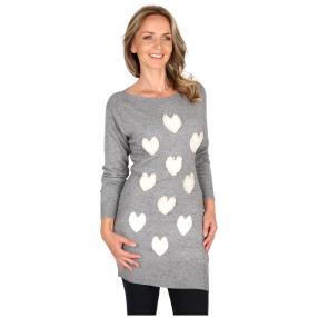Damen-Pullover 'Cuori' grau