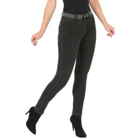 Jet-Line Damen-Jeans 'Frisco' washed black