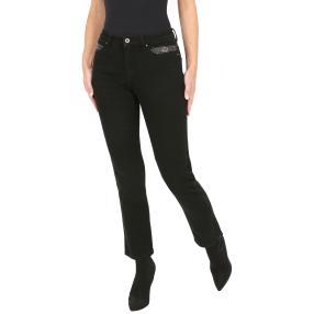 Jet-Line Damen-Jeans 'Amarillo' black/black