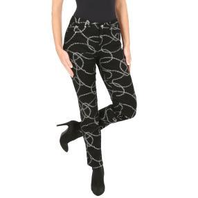 Jet-Line Damen-Jeans 'Beau' black/silver