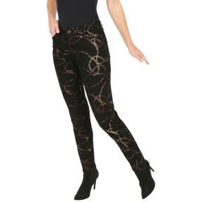 Jet-Line Damen-Jeans 'Cisco' black/copper