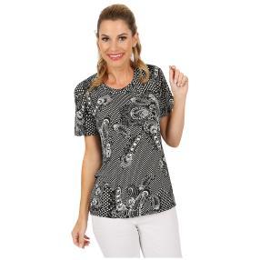 Damen-Shirt 'Termoli' schwarz