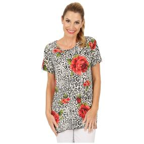 Damen-Shirt 'Scapoli' schwarz/rot