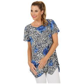 Damen-Shirt 'Scapoli' schwarz/blau