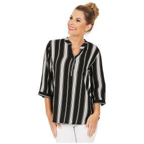 Damen-Bluse 'Ortona'  schwarz/weiß