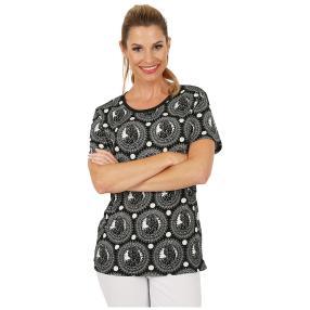 Damen-Shirt 'Molveno' schwarz/weiß