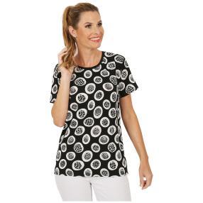 Damen-Shirt 'Mezzana' schwarz/weiß
