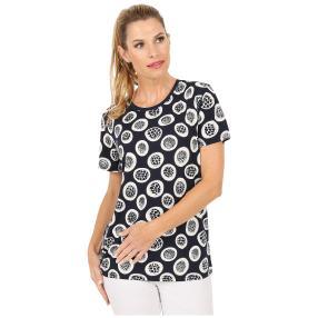 Damen-Shirt 'Mezzana' blau/weiß