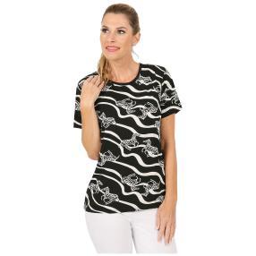 Damen-Shirt 'Arco' schwarz/weiß