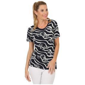 Damen-Shirt 'Arco' blau/weiß