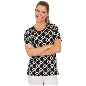 Damen-Shirt 'Carano' schwarz/weiß