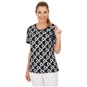 Damen-Shirt 'Carano' blau/weiß