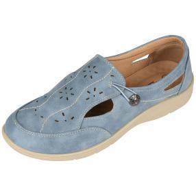 Cushion-walk Damen Slipper, beige, blau