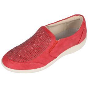 Cushion-walk Damen Slipper, rot, weiß