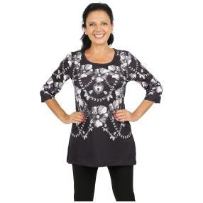 BRILLIANTSHIRTS Shirt 'Varazze' schwarz/weiß/grau