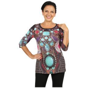 BRILLIANTSHIRTS Shirt 'Sarzana' multicolor
