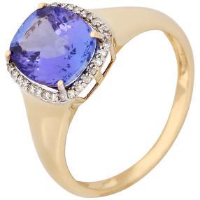 Ring 585 Gelbgold AAAA Tansanit