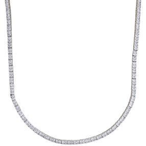 Collier 925 Silber rhodiniert, Zirkonia