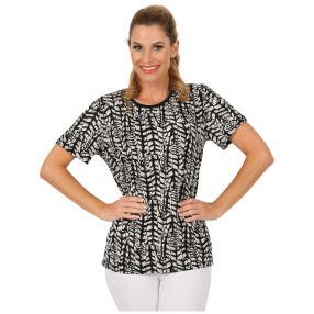 Damen-Shirt 'Mattinata' schwarz/weiß